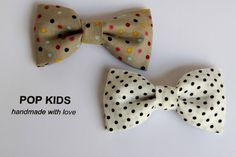 Confetti print boy bow tie, multicolour polka dots bow tie by PopKidsnl on Etsy