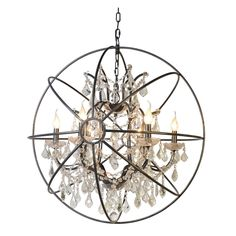 Yosemite Home Decor Contessa SCFP3078-6BK Chandelier | from hayneedle.com