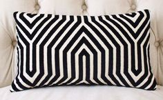 Mary McDonald Pillow Cover Black & Creme Pillow by MotifPillows
