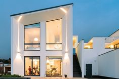 LOFT M from JAMERA From aerated concrete bloc without insulation Interesting Buildings, Beautiful Buildings, Beautiful Homes, Dream House Exterior, Loft, Stone Houses, Model Homes, Building Design, Ideal Home