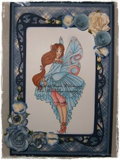Hello UPS UPS i did again LOL forgot to post my DT creation for MoonFlower digistamps yesterday but here she is in all her glory, sh. Moonflower, Fairy, Frame, Decor, Dekoration, Decoration, Frames, A Frame, Elf