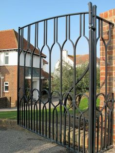 contemporary blacksmith entrance gate detail