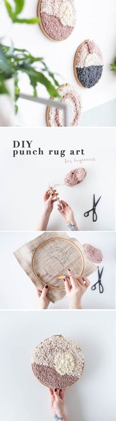 DIY Punch rug art