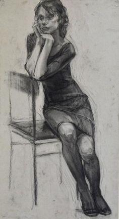 New art drawings design portraits ideas Human Figure Sketches, Human Figure Drawing, Figure Sketching, Life Drawing, Pencil Art Drawings, Realistic Drawings, Art Drawings Sketches, Eye Drawings, Charcoal Sketch