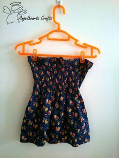 Angel Hearts Crafts: Refashion - Shirred Tube Top