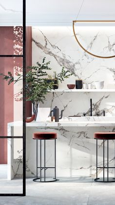 Your dream space is waiting for you 💭 Discover yours today at Euro Tile & Stone. Marble Countertops, Kitchen Countertops, Luxury Homes Interior, Home Interior Design, Style Me Pretty Living, Ad Home, Bathroom Gallery, Diy On A Budget, Counter Tops