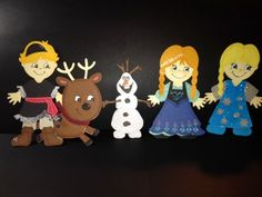 From Francine:  Use the Cricut Paper Dolls cartridge to create Frozen characters.