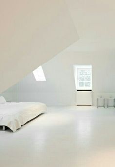 #whiteplace  Giant white bedroom