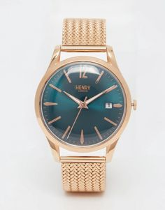 Image 1 of Henry London Stratford Mesh Watch In Gold