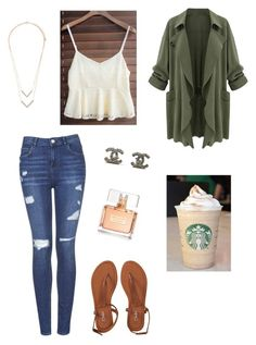 """"""""""" by paradise19t ❤ liked on Polyvore featuring Topshop, Aéropostale, Chanel, Givenchy and Forever 21"""