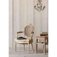 Eloquence® Vintage French Cream Gold Original Armchair | Kathy Kuo Home