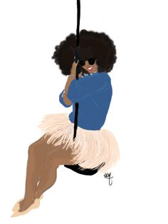 Afro girl just want to have fun