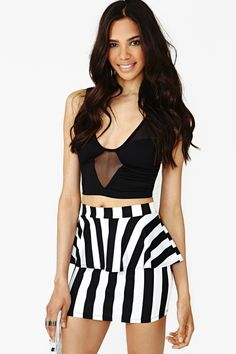 Linear Peplum Skirt - Lyst