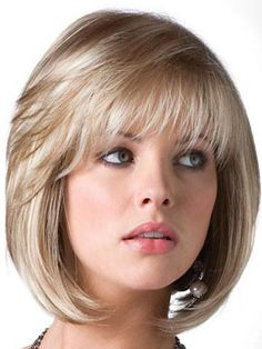 Casual Long-Layered Bob Grey Wig