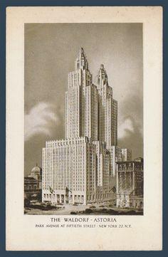 Postcards - United States #  923 - The Waldorf Astoria, New York, New York