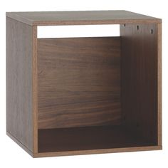 BOCKSEY Small walnut open storage box