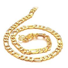 [$7.14] Gold Plated Men Necklace Link Chain Fashion Jewelry 500x9mm High Quality