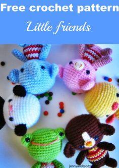 Little friends amigurumi-free pattern