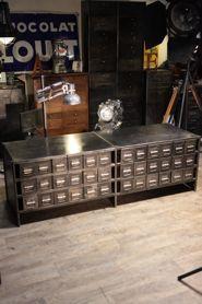 meuble industriel ancien d'atelier deco loft
