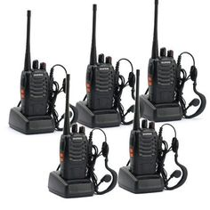 5 Pack BaoFeng BF-888S Long Range UHF 400-470 MHz 5W CTCSS DCS Portable Handheld 2-way Ham Radio 5pcs ** Click image to review more details.