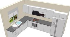 l shaped kitchen - Google Search