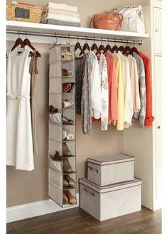 Better Homes and Gardens 10 Shelf Hanging Shoe Organizer, Beige Diy Shoe Rack, Shoe Storage, Storage Baskets, Clothes Storage, Diy Storage, Hallway Closet, Closet Rod, Jouer Au Poker, Hanging Shoe Organizer