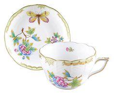 Xícara para chá com pires wonderland