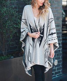 Love this Gray Geometric Kimono on #zulily! #zulilyfinds