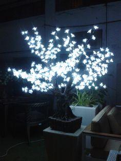 albero led modello bonsai  dimensioni : altezza cm 120 diametro cm 90  384 leds a forma di fiore in pvc trasparente