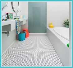 Home Decorating Style 2019 for Small Bathroom Vinyl Tiles, you can see Small Bathroom Vinyl Tiles and more pictures for Home Interior Designing 2019 at Best Home Ideas Vinyl Flooring, Bathroom Plans, Bathroom Flooring, Bathroom Floor Plans, Bathroom Vinyl, Basement Bathroom Remodeling, Bathroom Makeover, Tile Bathroom, Toilet Remodel