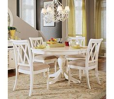 American Drew Camden Light 5 Piece Round Dining Set
