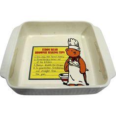 California Pottery 965 White Ribbed Square Baking Pan Teddy Bear Brownie Tips No Bake Brownies, Pottery Marks, Baking Tips, Butter Dish, Picnic, Teddy Bear, California, Eat, Gifts