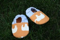 Orange Elephant Shoes - My Bella Baby on Etsy