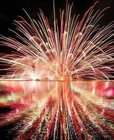 Fireworks at Hiroshima. #japan