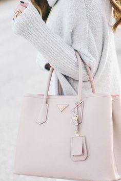 Pretty blush tote bag.