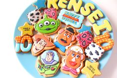 Toy story icing cookies トイストーリーのアイシングクッキー
