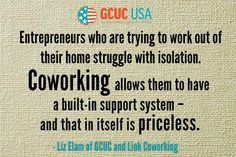 Why Coworking is juicy....