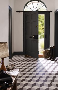 Our Illusion feature floor tiles make a wonderful feature of any hallway kitchen or bathroom. Perfect for all traditional homes, even if your looking for a mix of contemporary and classic. It's geometric shape being reminiscent of this 20th century movement..