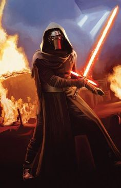 STAR WARS VII: The Force Awakens NEW Villain equipped with midieval-esque lightsaber!  Are you ready to see this in action in December 2015?!