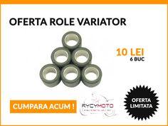 OFERTA SPECIALA !!! Role variator scutere - 10 lei !! MARIMI DISPONIBILE : 19x15,5 - 6,5g, 7g, 7,5g, 9g 19x17 - 10g, 10,5g 11g, 12g 20x14,8 - 13,5g Tel : 0748/544115