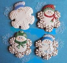 Snowman Cookies, Snowflake Cookies, Christmas Sugar Cookies, Christmas Sweets, Noel Christmas, Holiday Cookies, Christmas Baking, Summer Cookies, Valentine Cookies