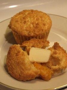 Peach Cobbler Muffins - Little House Living