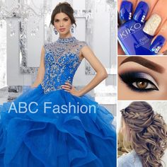 The Ultimate Princess Look Love this gown? Search for 89155 on www.abcfashion.net #quince #quincedress #quinceaños #quinceañera #misquince #mis15años #misxv #sweet15 #sweet16 #sweet15dress #sweet16dress #ballgown #bluedress #vestido #vestidoazul #bluenails #bluemakeup #updo #formalhair #shoplocal #dallastx #abcfashion
