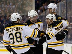 COLUMBUS — It's tough to win in the National Hockey League with only one line going, but the Bruins managed to pull it off Thursday night at Nationawide Arena.Speaheaded by their top line of Brad Marchand, David Backes and David Pastrnak, the B's overcame a pair of two-goal deficits — due largely to their own generosity — to score a 6-3 victory over the Blue Jackets.