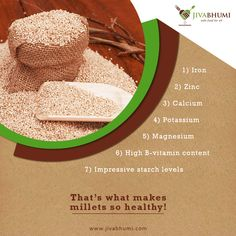 How can your healthy meal be complete without millets? Shop for them at: https://shop.jivabhumi.com #Health #Millets #Meal #EatHealthy