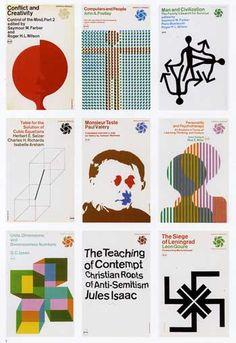 Rudolph de Harak book covers 1960s