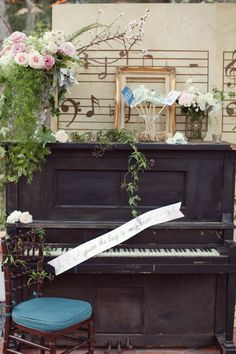 Check out this Musical Fairytale Wedding by Amorology. Such unique ideas that were expressed through the whole day. // photo: Brandon Kidd #piano #photoshoot