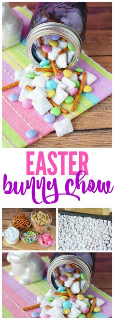 Easter Bunny Chow Recipe! A family favorite for Easter Parties and Egg Hunts! #eastertreats #easterrecipes #easter