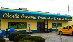 Charlie Brown's Pancake & Steak House - Indianapolis, IN - close to speedway - had a great lunch there!