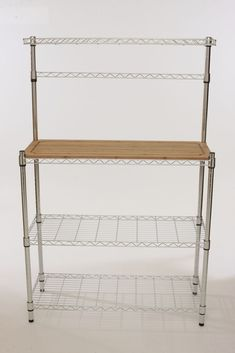 Luxury Whitmor 6054-268 Supreme Bakers Rack, Chrome and Wood
